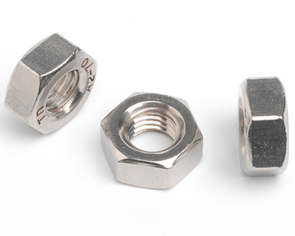 Stainless Steel Left Hand Thread Hexagon Full Nuts