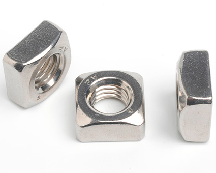 Stainless Steel Chamfered Square Nuts