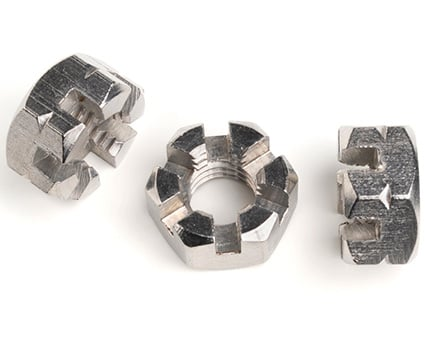 Stainless Steel Hexagon Castle Nuts Thin Type