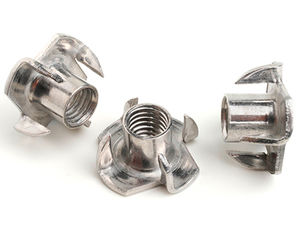 Stainless Steel 4 Prong Tee-Nut
