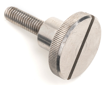 Stainless Steel Knurled Thumb Screws with Slot