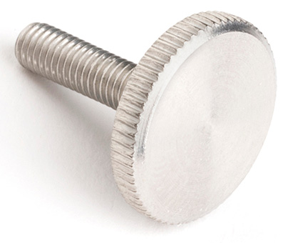 Stainless Steel Knurled Thumb Screws Thin Type