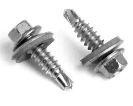 Stainless Steel Hexagon Head Bi-Metal Tek 2 Stitching Screws 16mm Sealing Washer